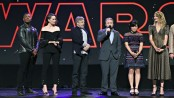 Rian Johnson and the Star Wars cast at D23