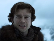 Actor Alden Ehrenreich playing Han Solo